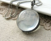 Clear Locket Necklace, Glass Photo Locket, Oxidize Sterling Silver Locket Pendant, Modern Locket, Push Gift, Glass Locket, Maternity Jewelry