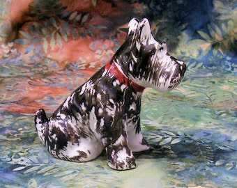 SCOTTISH TERRIER, Japanese ceramic 1930s