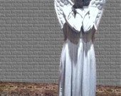 Angel Wings, Two Grey color options. Two Sizes. Gray.