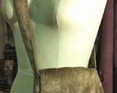 Cross Body Fun Shaped Mid Sized Khaki Chenille Purse