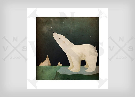 CONSTELLATIONS Polar Bear ILLUSTRATION giclee print SIGNED