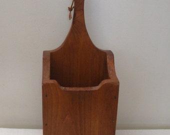 Vintage Wood Candle Box - Kindling or Match Holder