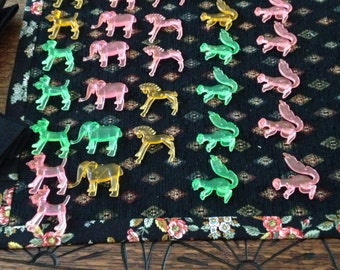 Neon Cup Huggers Pink Green Yellow Squirrels Horses Dogs Elephants Hong Kong Set of 30