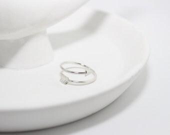 Ali Arrow Wrap Ring // Silver Plated // Blackbird Collection // (R009-S)