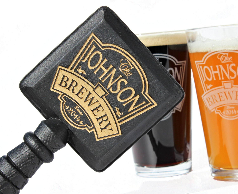 brewery pint glasses beer tap handle boyfriend by scissormill. Black Bedroom Furniture Sets. Home Design Ideas