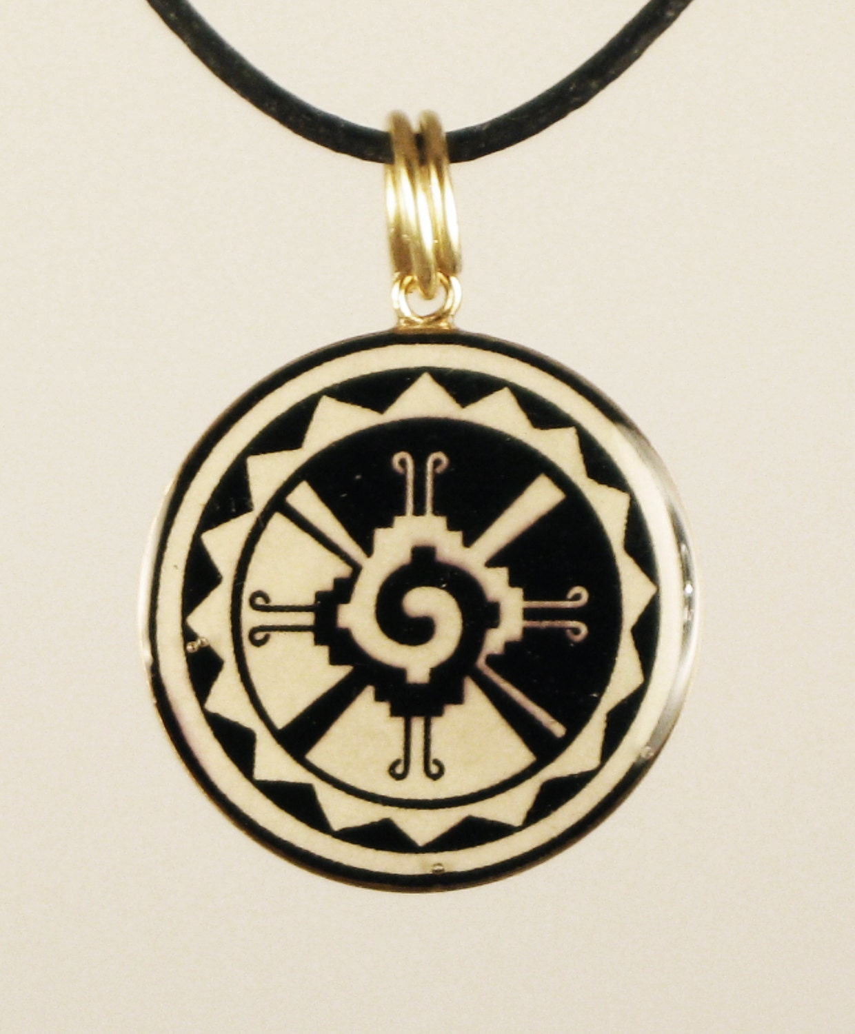 mayan hunab ku deity symbol pendant or necklace by