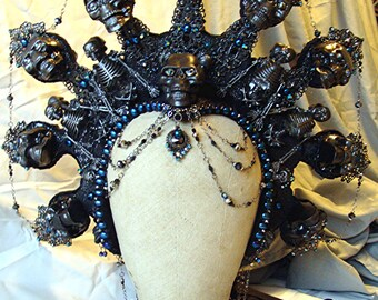 Kali Headdress Made to Order Mardi Gras Drag Queen Cosplay Death Goddess