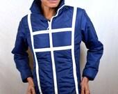 Vintage 80s Ski Blue Puffy Winter Jacket Coat - By Head