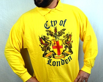 Vintage 1980s City of London Yellow Sweatshirt