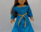 American Girl sized Blue Princess Merida Dress as in the Movie Brave