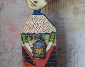 Altered Art Doll - Home Tweet Home