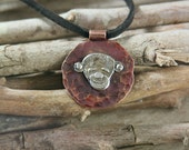 Monkey Pendаnt - Silver Monkey - Year of Monkey - Totem Pendant - Authentic jewel
