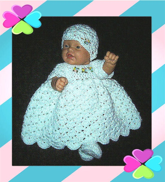 baby dress doll clothes preemie clothes by MimisCrochetDen