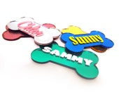 Custom Dog Magnet - Personalized - Name - 5 Colors - Refrigerator - Pet Themed Gift