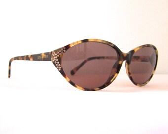 Designer  SUNGLASSES Rhinestne encrusted Eyeglasses ,by Lise Watier /Lunetterie Nicolet early 90s ,