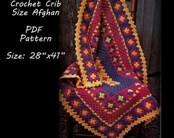 Crochet Baby Blanket Pattern, Crib Size - PDF 11285039