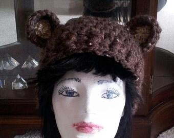 Reversable Hand Crochet Chunky Bear Slouchy Hat L Hand Knit Beanie Cloch / Made to Order Unisex Adults ChunkyBear Beanie / Warm Fashion