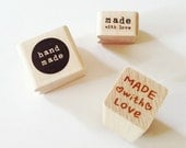 Handmade Rubber Stamp Made With Love Stamp Heart Stamp Wooden Rubber Stamp Handmade Stamps