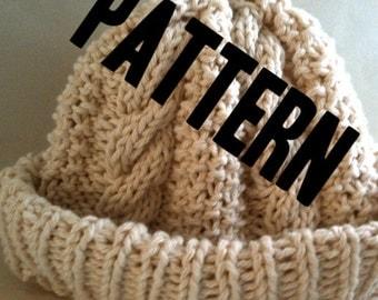 Pattern - Baby Hat - Cable - Knit - Watch Cap - Fisherman's Knit - Pattern