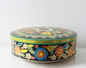 Vintage Tin Can Bowl with Lid - Made in England