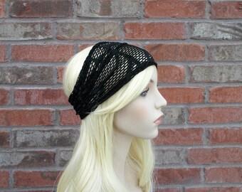 Black Headband, Boho Headband, Ladies Headband, Comfortable Headband, Black Lace Headband, Womens Headwraps, Summer Headband, Head Band
