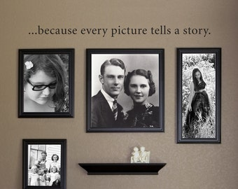 Picture tells a story Decal - Picture Wall Decal - Photo Wall Decal - Large