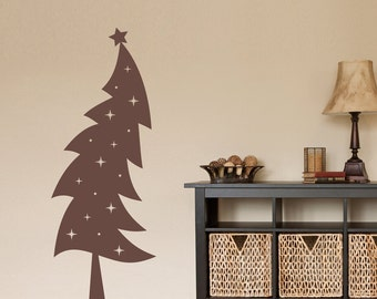 Christmas Tree Decal - Holiday wall decor - Xmas Wall Decal - Christmas Decor - Large