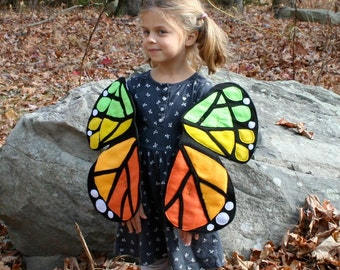 Rainbow Monarch Butterfly Wings To Let Your Children Float, Flutter and Fly