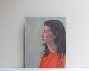 Vintage Original Portrait Painting of a Woman