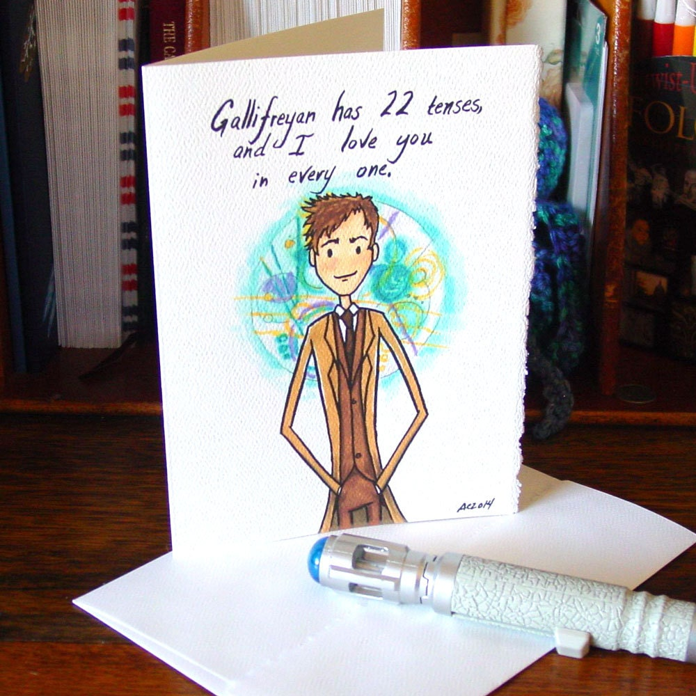 Doctor Who Greeting Card Tenth Doctor I Love You – Doctor Who Birthday Card