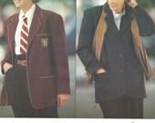 Vogue 1068 Vintage Designer Sewing Pattern By Donna Karan DKNY // Jacket Sizes 8 10 12