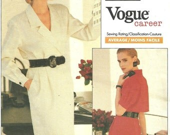 Vogue 2057 / Vintage Designer Sewing Pattern / Dress / Sizes 12 14 16