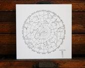 "Letterpress Print ""Constellations"" in Black"