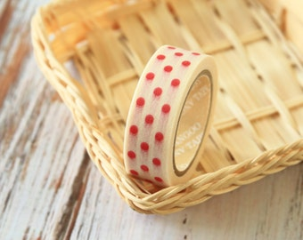RED Polka Dots Washi Masking Tape