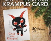 Printable Krampus Christmas Card