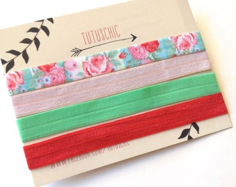 Print elastic stretch headbands in a set. Four in this set. TutusChic is everyday glamour.