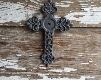 Gray Cast Iron Wall Cross -  #141