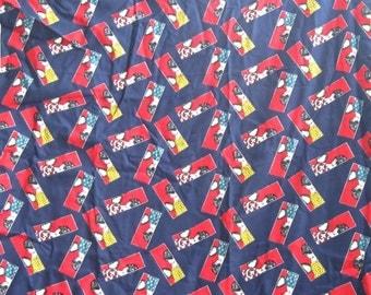 Navy Geisha Japanese Cotton Bold Fabric Yardage
