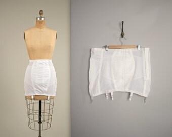 1950s RAGO shapewear • vintage 50s girdle • open bottom girdle • larger size