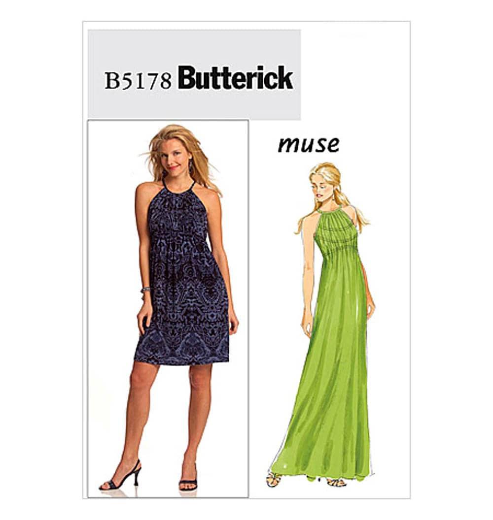 Butterick B5178 MUSE Designer Sun Dress Or Maxi Dress Pattern