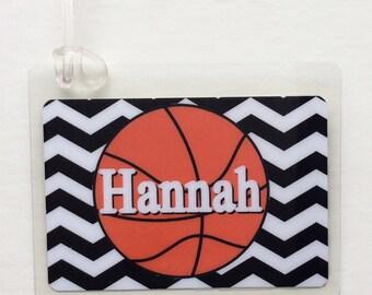 Basketball Mom Bag Tag Basketball Party Favor WNBA Fan Basketball Bag Tag Basketball Player Gift Basketball Team Gift Basketball Tag Persona