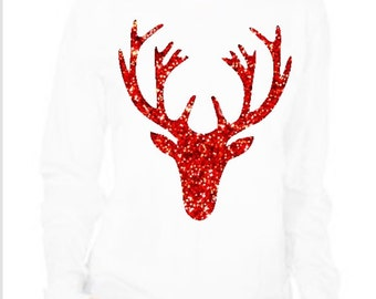 Reindeer head shirt, Christmas reindeer shirt