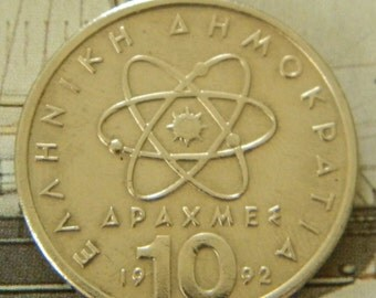 Atom Greek Coin / Greece Drachma