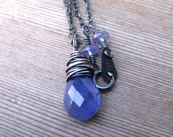 Tanzanite Necklace in Sterling Silver, December Birthstone Jewelry, Periwinkle Blue Natural Gemstone, Tanzanite Jewelry, Gift For Her