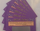 BDSM LOTTO TICKETS Kinky Scratch Off Coupons 6 pack, Naughty Anniversary Birthday gift, S and M game, bondage