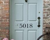 Front Door Number Vinyl Decal • Street Number - House Address Number - Door Decal Decor