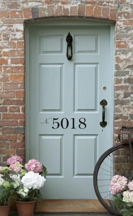 Wonderful Front Door Number Vinyl Decal U2022 Street Number   House Address Number   Door  Decal Decor