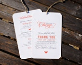 RESERVED for kejgcj - Welcome to Personalized City / Itinerary Tag - Destination Wedding Welcome Bags - 4.5 x 7 -  Custom Colors - Set of 10