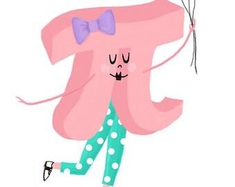 Cutie Pi art print