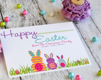 Easter Greeting Flat Note Cards